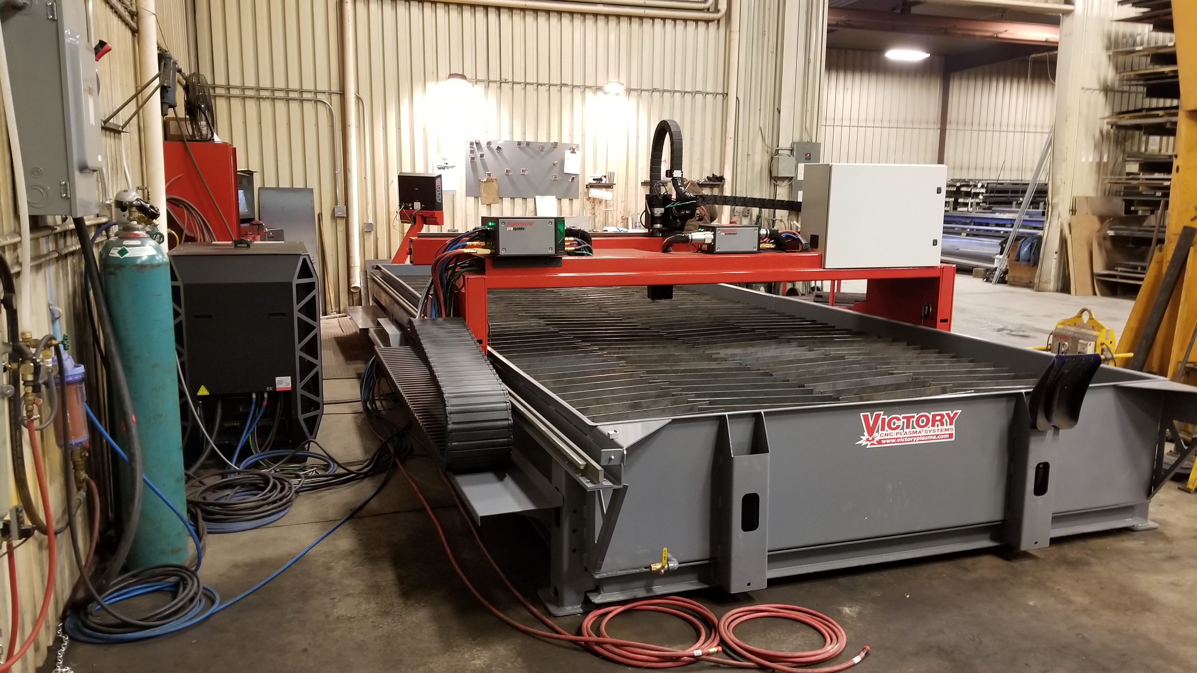Victory CNC Plasma Systems 8'x20' Hypertherm EDGE Connect system with high-def XPR300