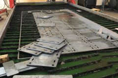 """Cutting a large nest of 1/2"""" mild steel plate on a 8' x 20' Victory Unitized System with a Hypertherm XPR300 at 130A"""
